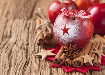 Red winter apples