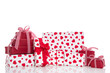 Geschenke rot mit Herzen - Weihnachten, Valentinstag, Geburtstag