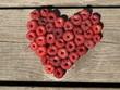 serce z malin