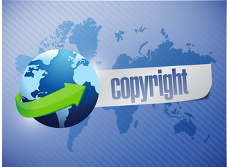 copyright globe concept illustration design