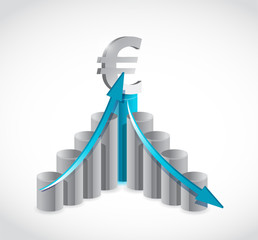 business euro graph illustration