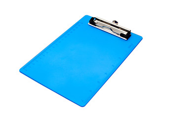 blue clipboard isolated on white background