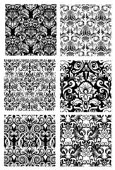 Dekor in schwarz-weiß
