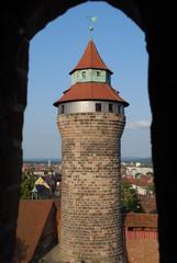 Ausblick zum Sinwellturm Nürnberg