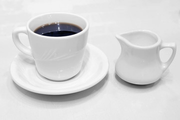 Coffee Cup Saucer and Creamer