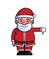 Santa Claus giving a thumbs down