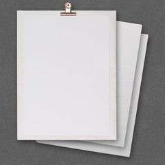 stack of blank paper book on texture background