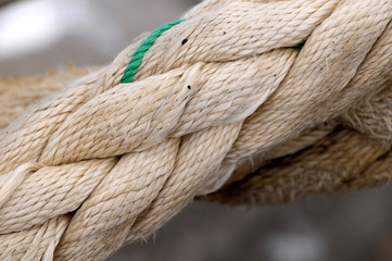 A Naval Rope on a Pier
