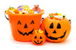 Group of Halloween Jack of Lantern candy holders