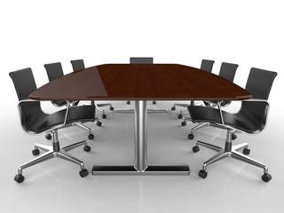 会議用机と椅子
