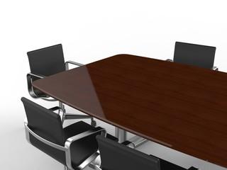 会議用机と椅子 寄り