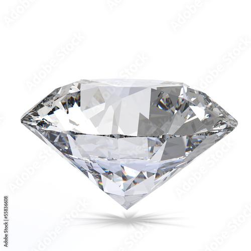 Leinwandbild Motiv Diamond on white background