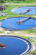 Group of circular sedimentation tanks for sewage cleaning