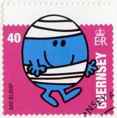 GUERNSEY- 2008: shows mr bump, illustration Mr Men & Little Miss