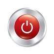Power button. Turn on sticker. Engine icon.