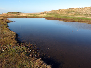Salthouse, pool by beach car park