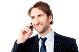 Handsome business male communicating