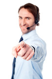 Customer support execuitive pointing you out