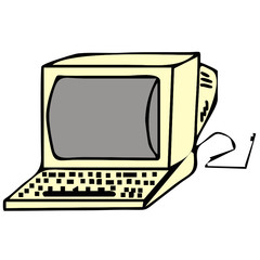 vector drawing of a computer