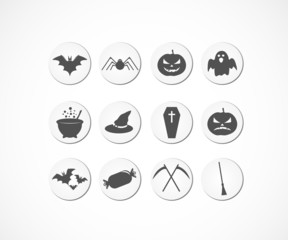 Halloween sticker icons