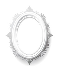 Vintage oval frame.