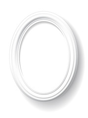 White oval frame.