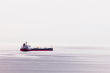 Oil tanker ship transports fossil energy overseas