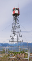 Forest fire watch tower near Tagish Yukon T Canada