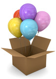 BALLOONS IN THE BOX - 3D