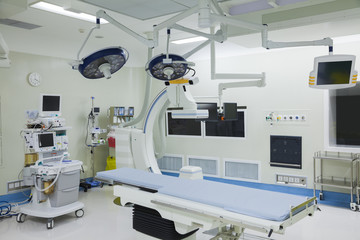 Operating room with surgical equipment, hospital, Beijing, China