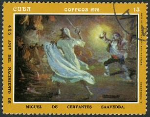 CUBA-1972: batalla con los pellejos de vino, Miguel de Cervantes