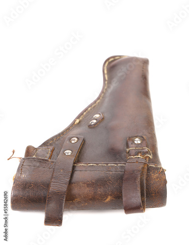 Old brown holster