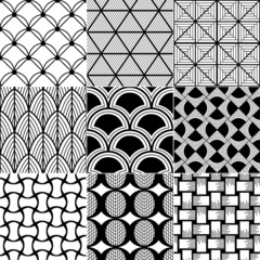 monochrome seamless geometric pattern