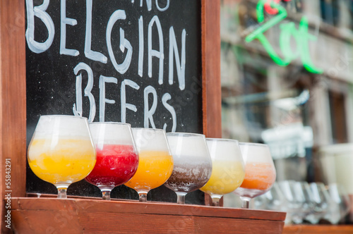Canvas Bier birra di bruxelles in belgio