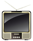 vintage consumer electronics —tv set