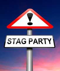 Stag party concept.