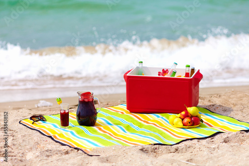 In de dag Picknick picnic on the beach