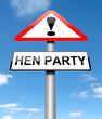 Hen party concept.