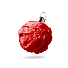 crumpled paper Christmas ornament