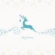 Jumping Reindeer, Christmas Ball & Stars Retro