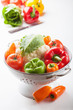 colorful vegetables in colander
