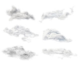 set of six isolated clouds