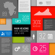 Vector abstract squares background  infographic