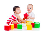 babies girls play block toy