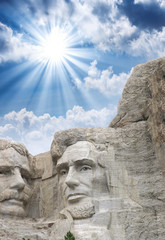 Mount Rushmore - Roosevelt and Lincoln sculpture