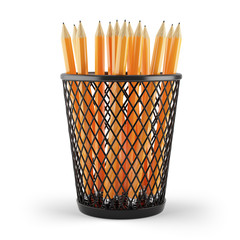 pencils in holder