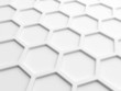 Abstract wall background with white honeycomb