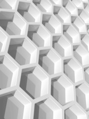 Abstract background with honeycomb structure