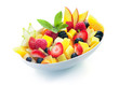 Bowl of tropical fruit salad