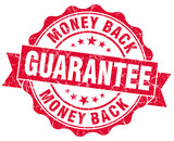 money back guarantee grunge red Seal